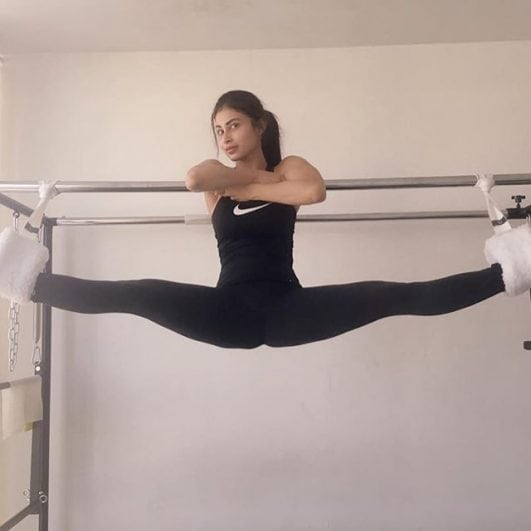 Mouni Roy AKA Nagin hot look in gym