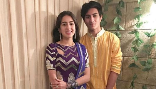 Sara Ali Khan with her brother Ibrahim Ali Khan