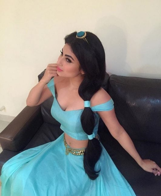 Mouni Roy hot look Disney princess
