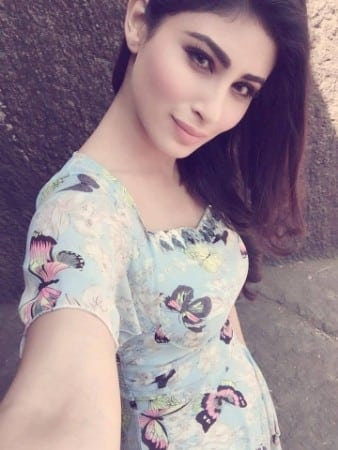 Mouni Roy hot selfie wit sweet look