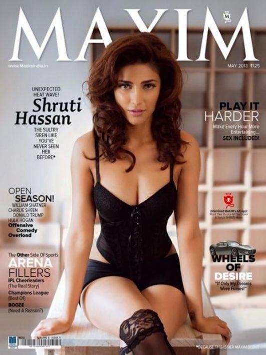 shruti-haasan maxima cover photoshoot pics