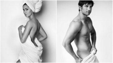 Katrina Kaif, Sushant Singh Rajput does the towel act for Mario Testino!