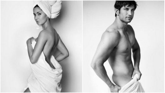 Katrina Kaif, Sushant Singh Rajput does the towel act for Mario Testino!