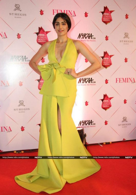 Adah Sharma Bold Dress for Nykaa Femina Beauty Awards