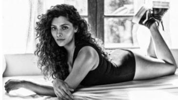 Saiyami Kher Flaunting Her Sexy Curvaceous Body In a Sexy Swimsuit