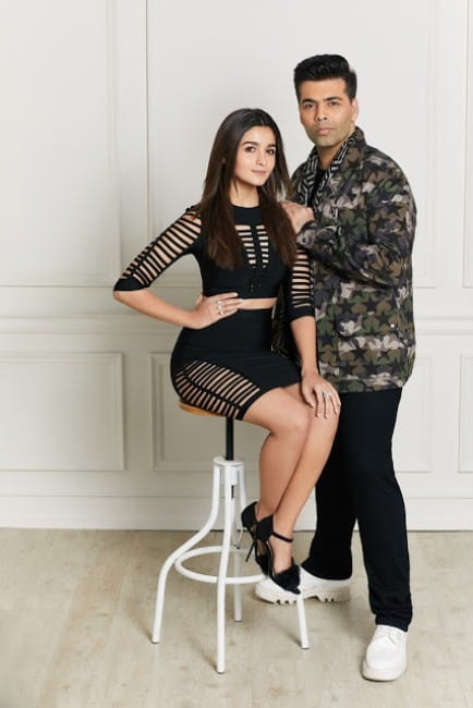 Alia Bhatt & Karan Johar For Hello! Magazine January 2017,Alia Bhatt with Karan Johar Magazine,Alia Bhatt latest Hello! Magazine 2017