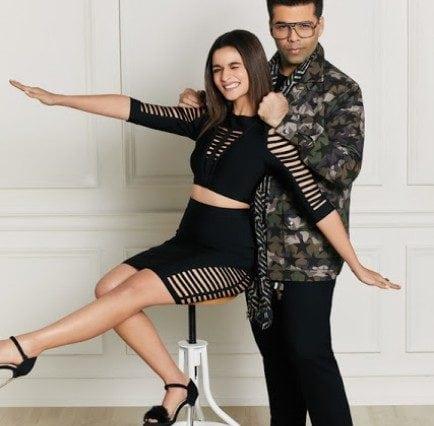 Alia Bhatt & Karan Johar For Hello! Magazine January 2017,Alia Bhatt with Karan Johar Magazine,Alia Bhatt latest Hello! Magazine 2017