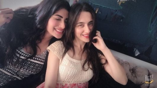 Mouni row hot photo with actress Sanjeeda Shaikh