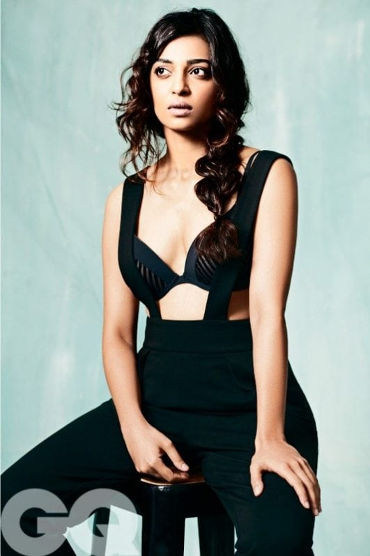Radhika Apte Hot topless GQ Photoshoot