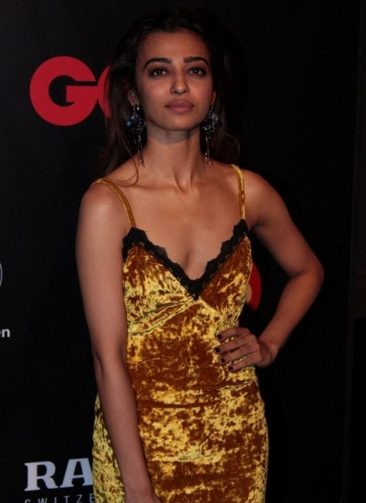 Radhika Apte Super Sexy Cleavage Show GQ Best Dressed 2017 PHOTOS