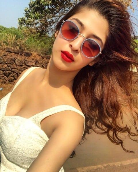 Sonarika Bhadoria hot boobs show in white dress
