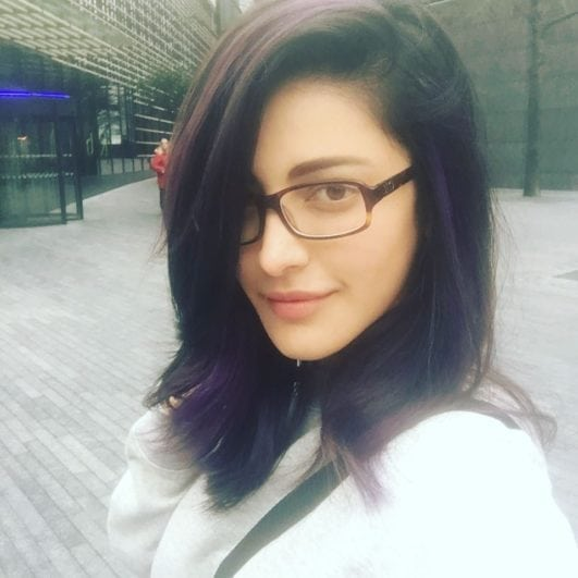 Shruti Hassan or shruti hasan gorgeous look in in her instagram post