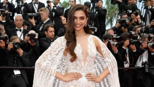 bollywood actress Deepika Padukone hot at cannes 2018