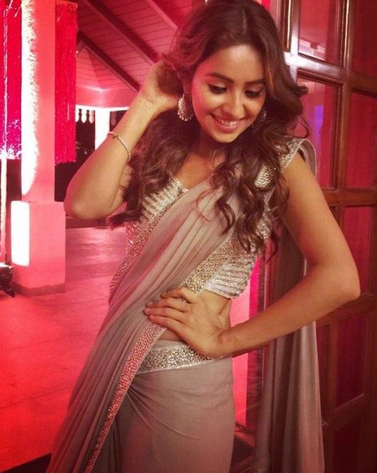Asha Negi in saree instagram