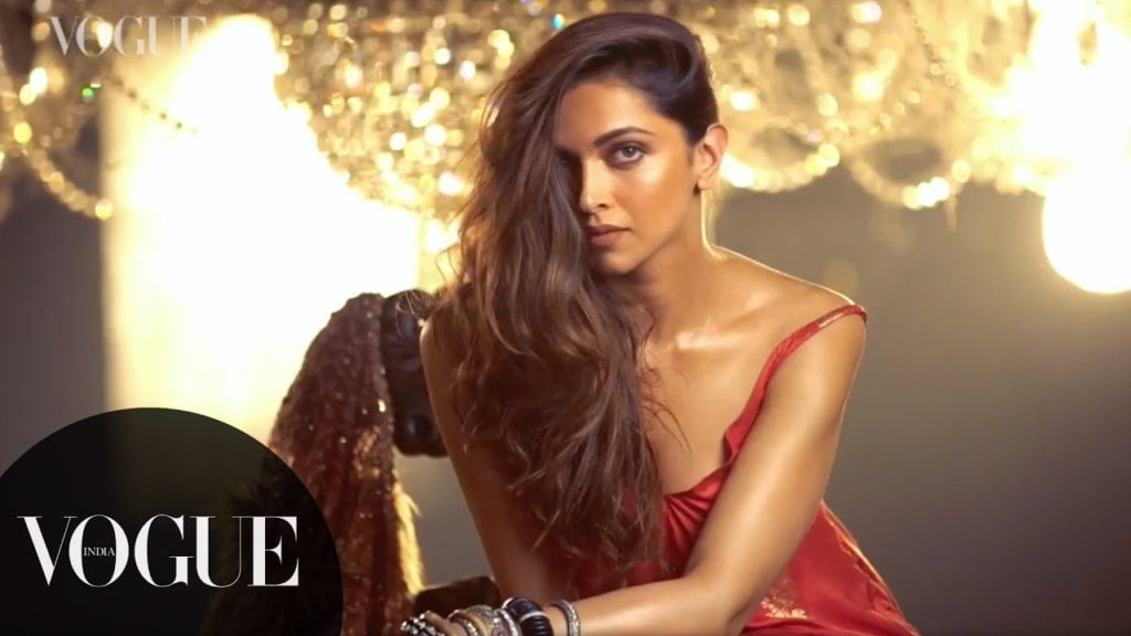Deepika Padukone behind the scenes of our November 2016 cover shoot. VOGUE India
