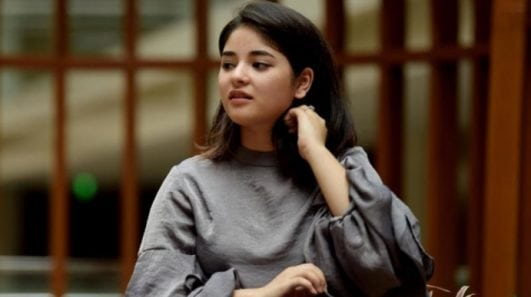 zaira wasim sexy photoshoot still from her instagram