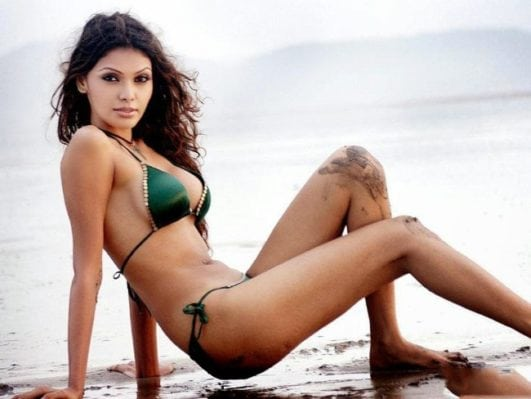 Sherlyn Chopra bikini look at beach
