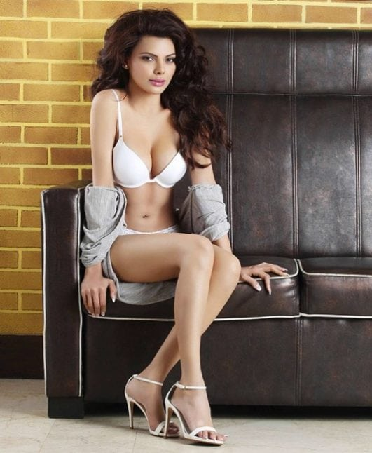 Sherlyn Chopra hot clevage show