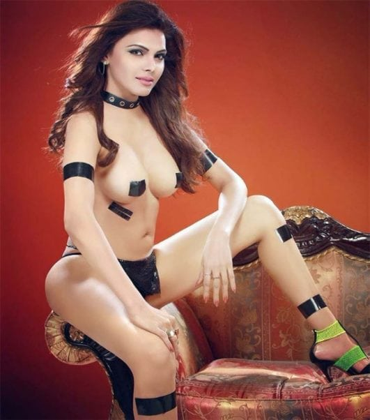Sherlyn Chopra hot topless photo