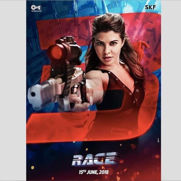 jacqueline fernandez hot look in latest race 3 movie poster