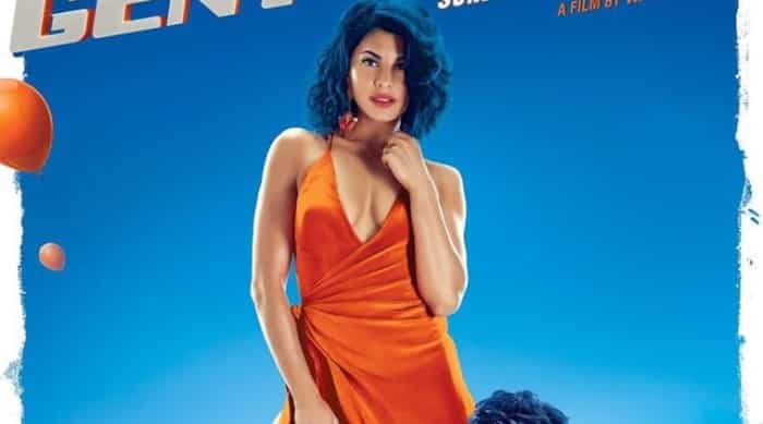 jacqueline fernandez sexy boobs show in a gentleman poster