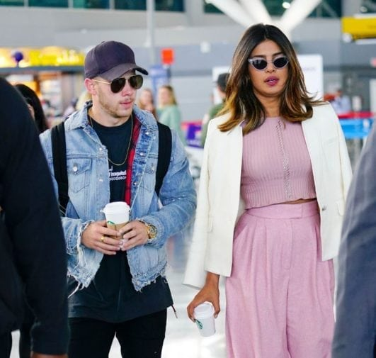 Bollywood Actress Priyanka Chopra with her Singer boyfriend Nick Jonas