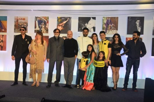 Celebrities pose at daboo ratnani event