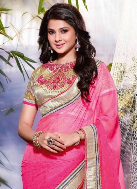 Jennifer-Winget-Pink-saree