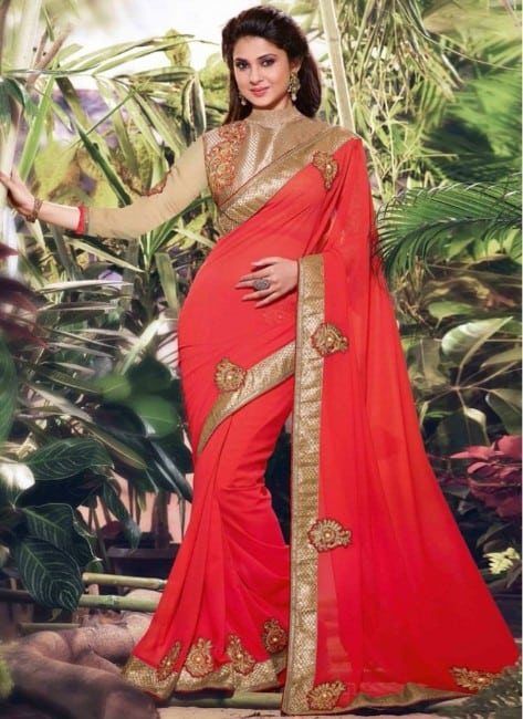 Jennifer-Winget-saree