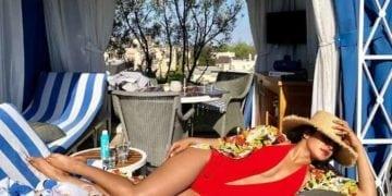 Priyanka Chopra photo in red hot swimsuit bikini
