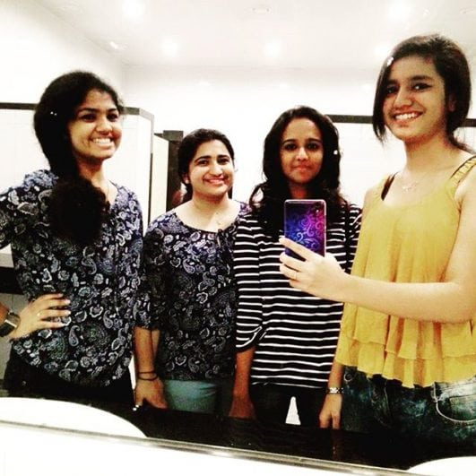 priya prakash varrier hot instagram sefie with friend