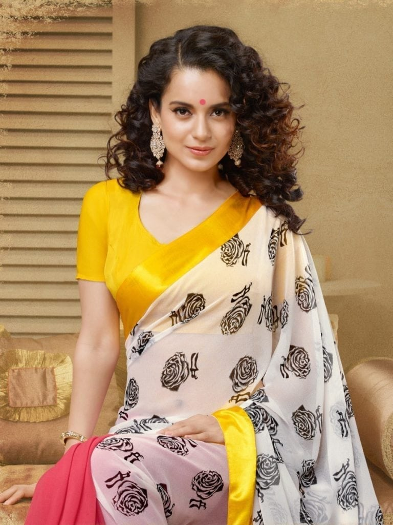 Kangana Ranaut hot looks in saree