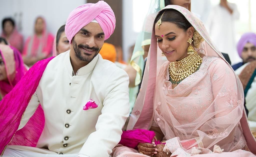 neha dhupia wedding photo
