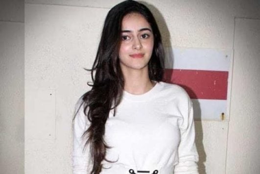 Ananya Pandey beautiful looking in white dress