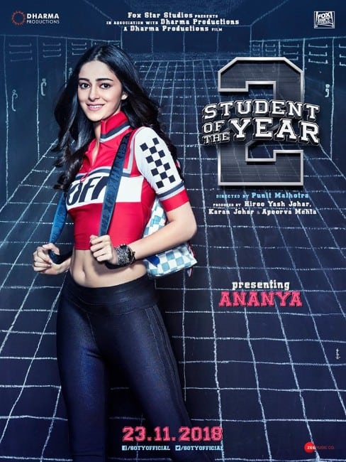 Ananya Pandey hot student of the year 2 movie poster (SOTY 2)