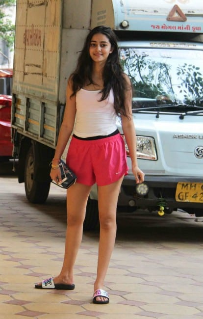 Ananya Pandey spoted outsite of gym