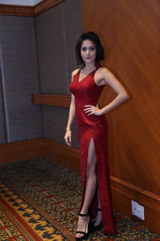 Nushrat Bharucha Instagram photo in red dress