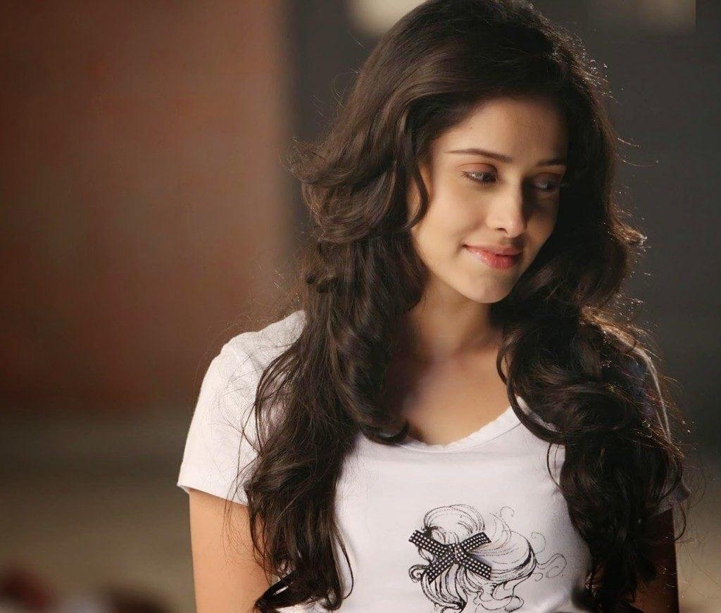 Nushrat Bharucha hot looking in white shirt