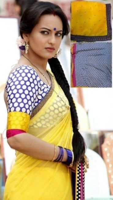 dabaang actress Sonakshi Sinha in yellow saree