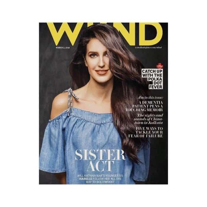 Katrina Kaif's sister Isabelle Kaif hot magazinr cover pic