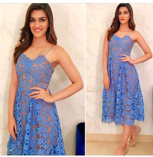 Kriti Sanon sexy looking in blue dress