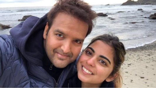 isha ambani with her husband