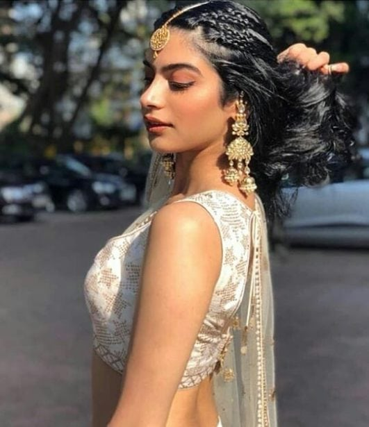 sridevi daughter khushi kapoor hot in lhenga