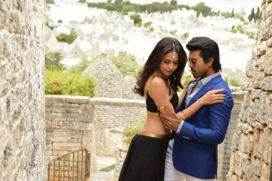 Rakul Preet Singh And Ram Charan Romantic Stills