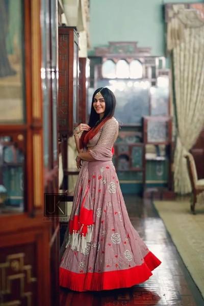 hot south actress adah sharma in lhenga
