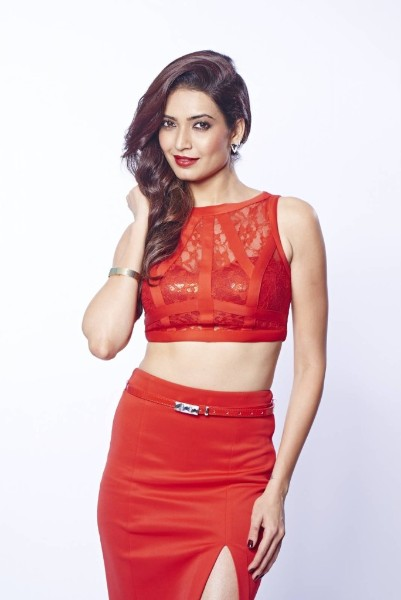 karishma tanna instagram photo in red dress