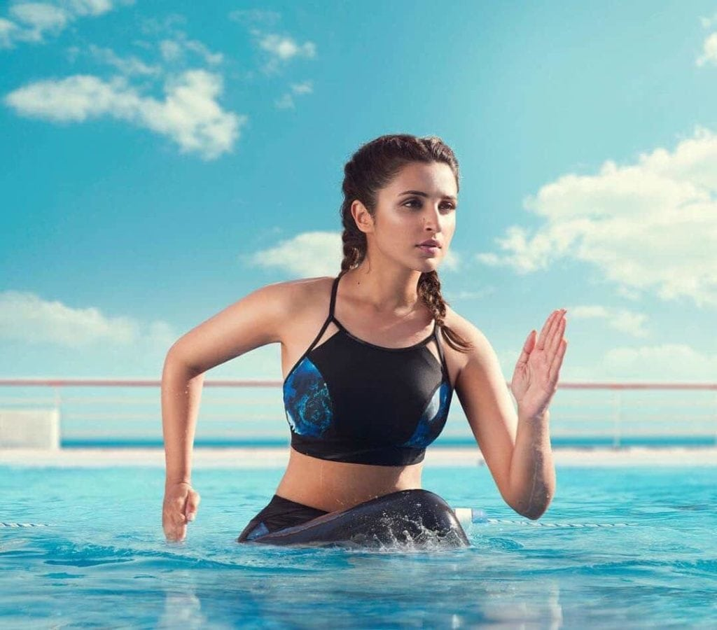 parineeti chopra hot images in sports bra bikini for photoshoot