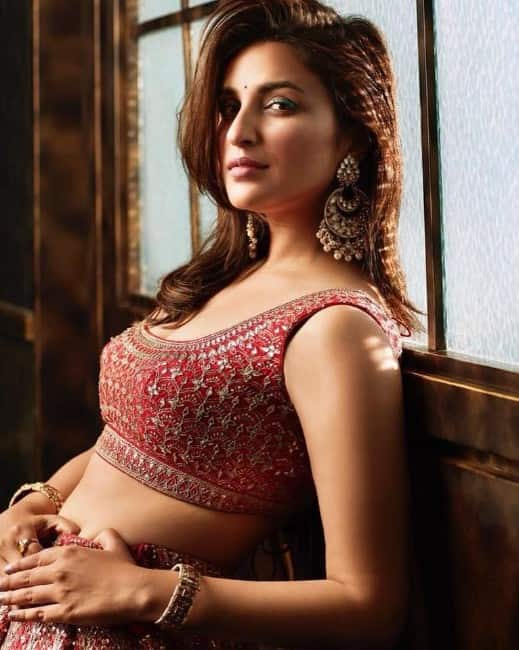 parineeti chopra hot looking in blouse