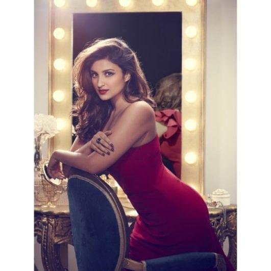 parineeti chopra hot photo in red dress latest