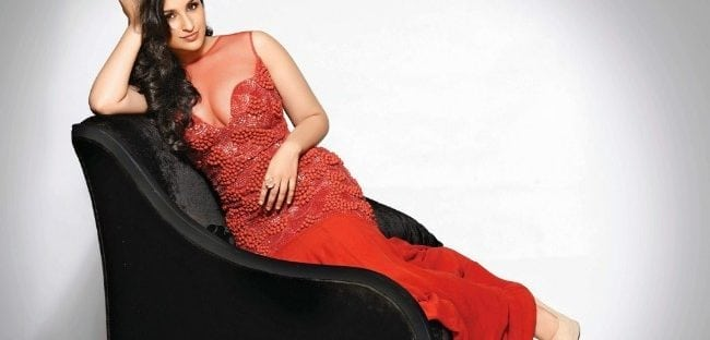 parineeti chopra hot pics in red dress old photo